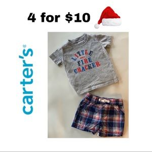 Carters Baby Boys Red White & Blue Outfit 🇺🇸